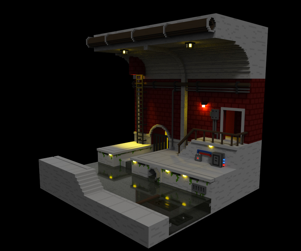 Voxel sewer
